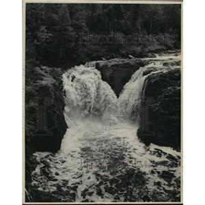 1974 Press Photo Copper Falls at Copper Falls State Park in Ashland County