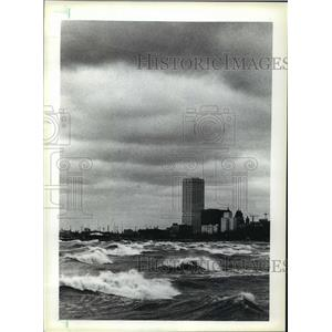 1984 Press Photo The First Wisconsin Center on the Lakefront. - mja42261