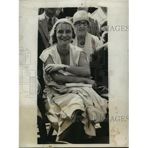 1931 Press Photo Reine Claudel attends Davis Cup , Chevy Chase Country Club