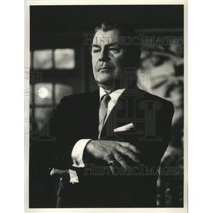 1965 Press Photo Brian Donlevy in The Curse of the Fly on ABC - lfx00482