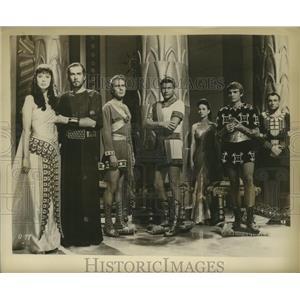 1961 Press Photo Eleanora Rossi Drago, Massimo Sebato in David & Goliath
