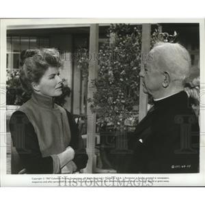 1967 Press Photo Katherine Hepburn & actor in a Columbia Pictures film