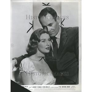 1957 Press Photo Vera Miles Henry Fonda Wrong Man