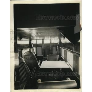 "1928 Press Photo View of Interior of ""Columbus"" Flagship of Air Transport"