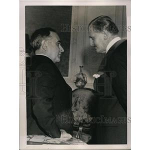 1936 Press Photo Brazil Prresident Vargas & Nobel winner Saavedra Lamas