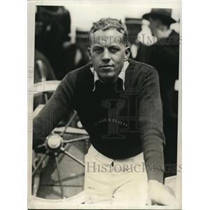 1930 Press Photo Bradford Abernathy Member of Crew on Schooner George Cluett