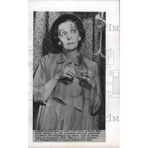 1962 Press Photo Actress Zasu Pitts at age 63, played fluttery spinster
