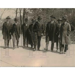 1920 Press Photo Cabinet officers call on President, Secy Daniels, Colby Payne