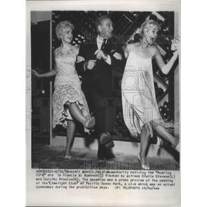 1958 Press Photo Francis Bushman, Stella Stevens, Dorothy Provine Limelight Club
