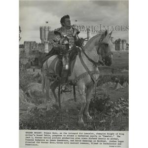 1967 Press Photo Camelot starringFranco Nero as Sir Lancelot - lfx01231