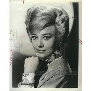 "1965 Press Photo Glynis Johns Star Of TV Series ""Glynis"""