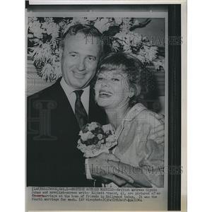 1964 Press Photo Actress Glynis Johns Weds Screen Writer Elliott Arnold