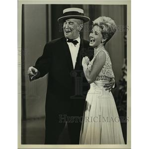 1964 Press Photo The Hollywood Palace with Jane Powell & Maurice Chevalier