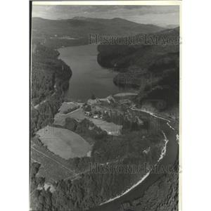 1982 Press Photo Aerial view of Merwin Dam in SW Washington - orc18916