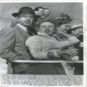 1954 Press Photo Fred MacMurray June Haver Hollywood - RRY11291
