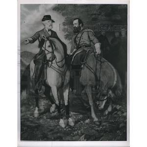 1963 Press Photo Painting Gen. Lee & Jackson Before Battle Of Chancellorsville