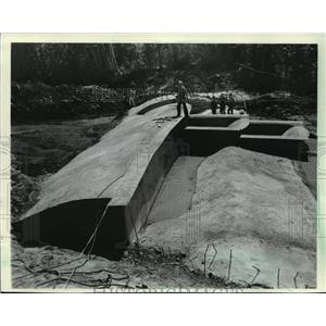1984 Press Photo The Brule River was diverted during construction. - mja40203
