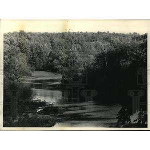 1986 Press Photo The Chippewa River offered a placid and scenic view.