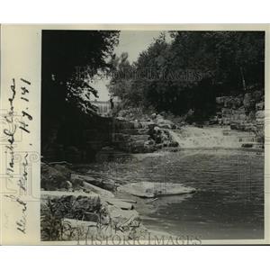 Press Photo The Wisconsin Falls near Devils Falls. - mja40914