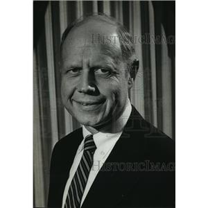 1980 Press Photo Kurt W, Bauer, president and CEO of Wisconsin Manufacturers