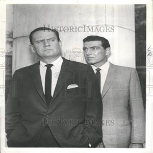 1961 Press Photo Actors Stephen McNally, Wendell Corey
