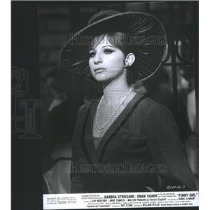 1968 Press Photo Barbra Streisand Actress Funny Girl