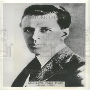 1934 Press Photo George Creel American Journalist
