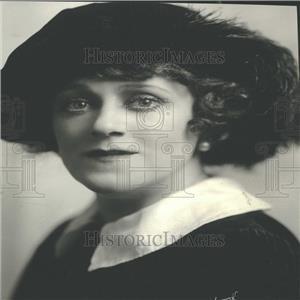1923 Press Photo Singer Hempel Portrait Closeup