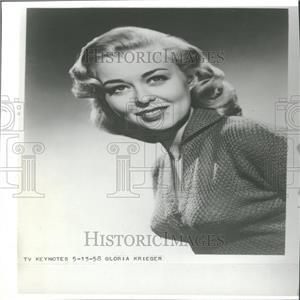 1958 Press Photo Gloria Krieger - RRY26341