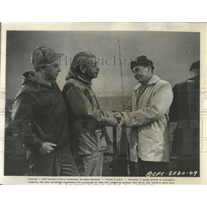 1959 Press Photo Paul Muni David Wayne Luther Adler