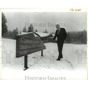 1988 Press Photo Frank Boren acquires Camp Caro on the Dishman Hills land