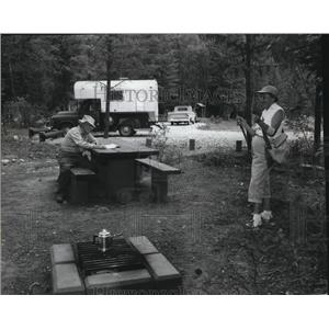 1963 Press Photo Meadow Creek Campground north of Bonners Ferry, Idaho
