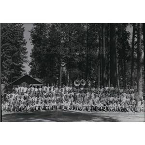 1955 Press Photo Camp Lutherhaven campers - spa36356