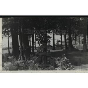 1940 Press Photo Geln Echo, YWCA Camp at Spirit Lake - spa36360