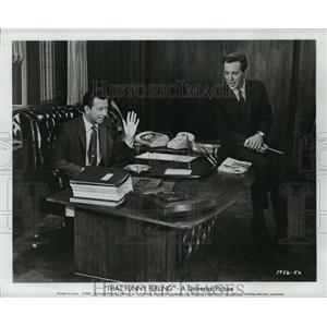 1965 Press Photo That Funny Feeling stars Donald O'Connor, Bobby Darin