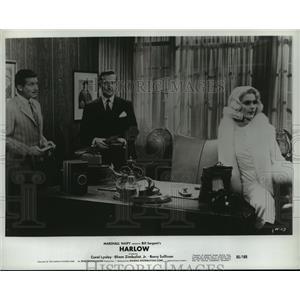 1961 Press Photo Harlow starring Carol Lynley Efrem Zimbalist Jr, Barry Sullivan