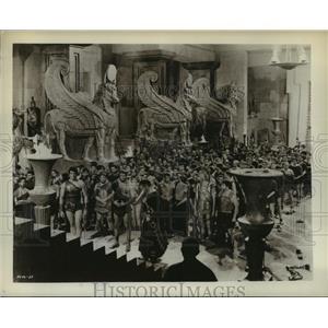 1961 Press Photo Colossus of Rhodes starring George Marchal, Conrado San Martin