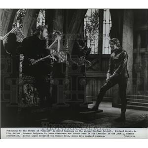 1967 Press Photo Camelot staring Richard Harris, Vanessa Redgrave, Franco Nero