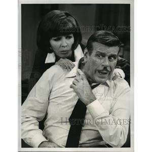 1967 Press Photo Good Morning World stars Billy De Wolfe, Julie Parrish