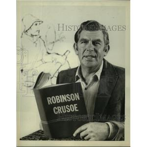 1964 Press Photo Andy Griffith hosts Robinson Crusoe Ice Spectacle on ABC