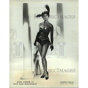 1966 Press Photo Ann Corio in This Was Burlesque at Westbury Music Fair