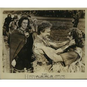1958 Press Photo The Vikings Kirk Douglas, Tony Curtis, Janet Leigh - lfx03828