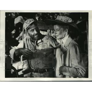 1951 Press Photo The African Queen stars Humphrey Bogart, Katherine Hepburn