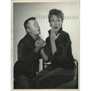 1959 Press Photo George Gobel and Eve Arden on The George Gobel Show.