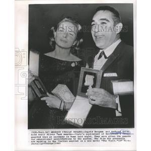 1963 Press Photo Ingrid Bergman Anthony Quinn The Visit