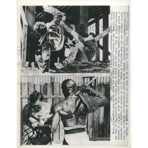 1963 Press Photo Gregory Peck Mitchum Douglas Strode