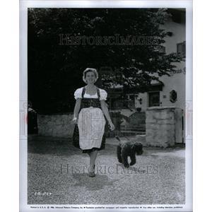 1957 Press Photo Actress Cornell Borchers With Dog