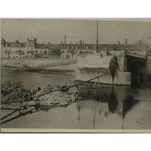 1914 Press Photo Bridge France Broked by Allies, World War I - ftx00035