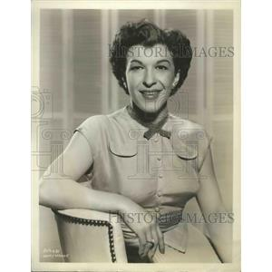 1956 Press Photo Nancy Walker, actress and comedian of stage, screen, and TV
