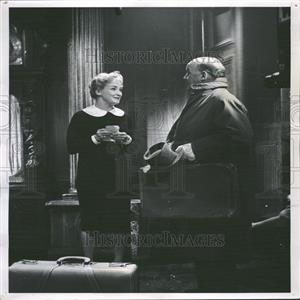 1959 Press Photo Nina Foch Actress Barry Jones TV Actor - RRY13021